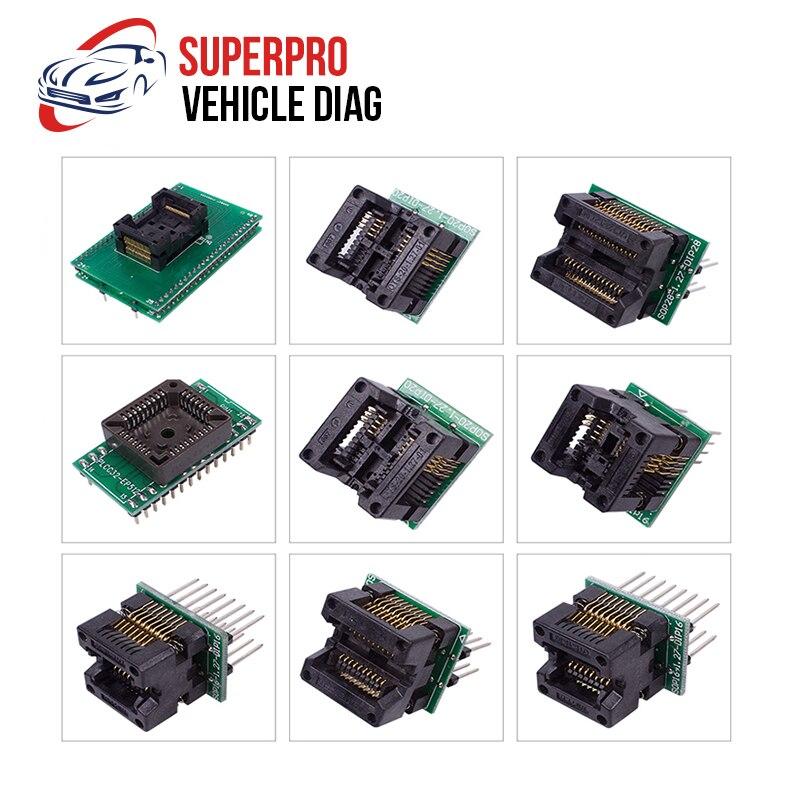 13 pièces Adaptateur Pour Superpro Xeltek 610 P USB D'ÉCUS Programmeur Brûler Bloc Superpro Xeltek Adaptateur