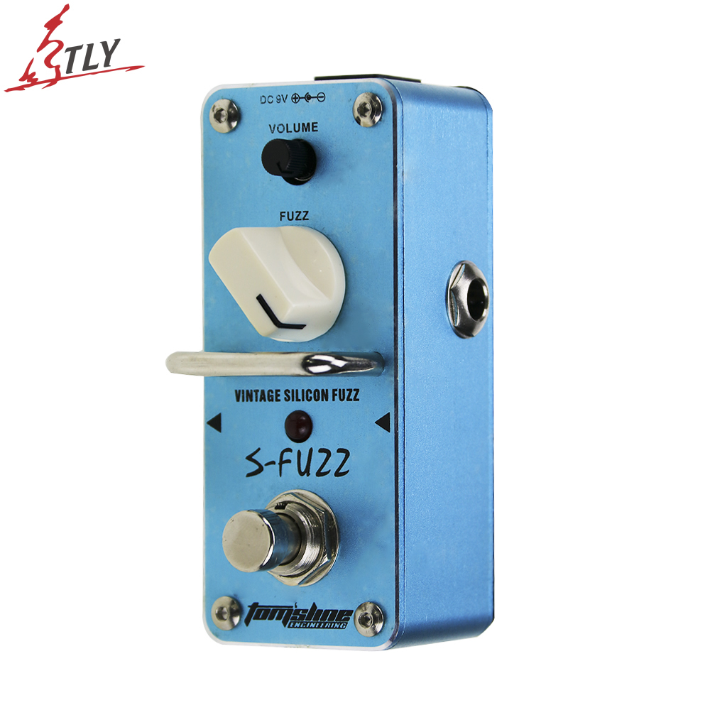 AROMA ASF-3 Electric Guitar Effect Pedal S-Fuzz Vintage Silicon Fuzz Mini Single Effect with True Bypass aroma aov 3 ocean verb digital reverb electric guitar effect pedal mini single effect with true bypass