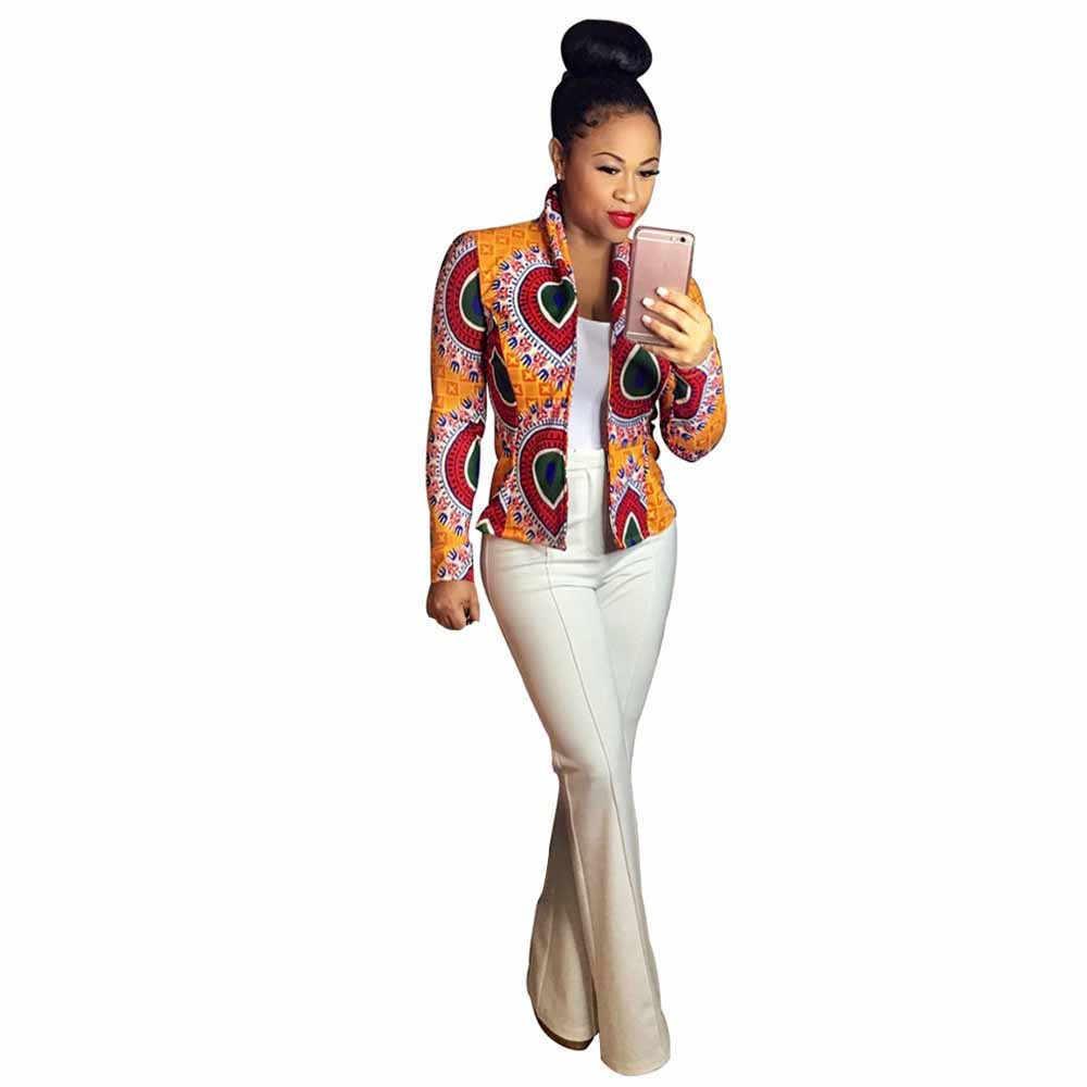 64cfbf43fd137 Detail Feedback Questions about Hot women basic coats Long Sleeve Fashion  African Print Dashiki Casual bomber jackets jaqueta feminina winter jacket  women ...