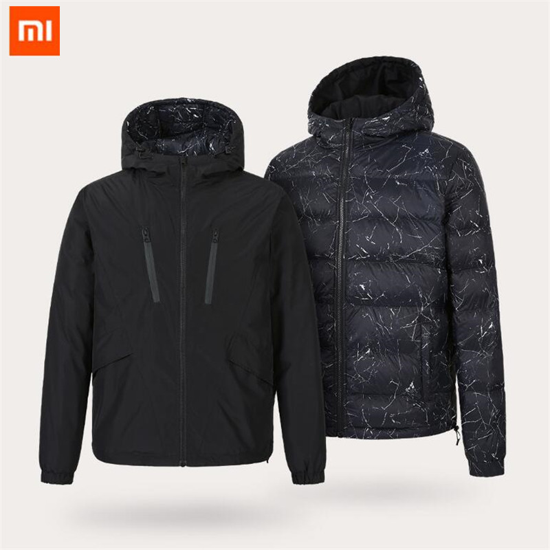 Xiaomi Uleemark men s double faced down jacket 90 goose down waterproof zipper double sided wearable