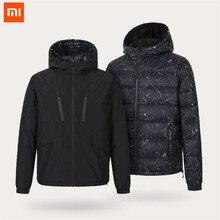 Xiaomi Uleemark herren doppel unten konfrontiert jacke 90% gans unten wasserdichte zipper doppelseitige wearable wasserdichte jacke