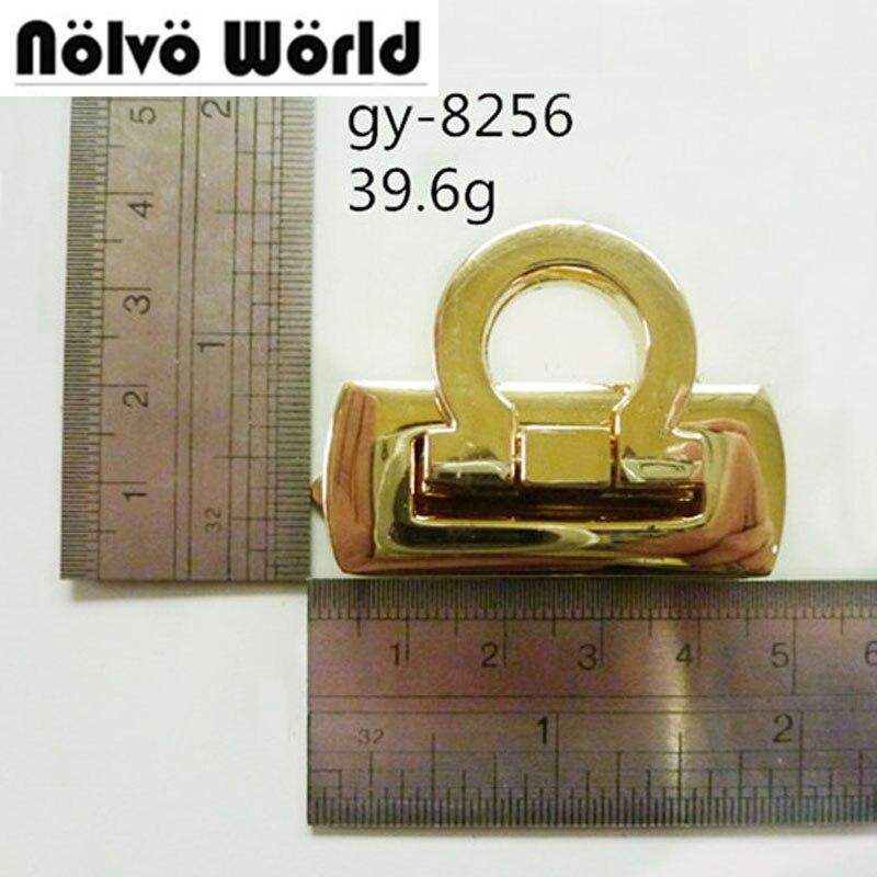 Cute lock light gold color metal lock for bags,fashion handbag metal locks accessories 10sets nokia 515 light gold