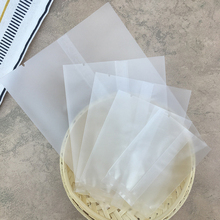 100 шт./лот, ювелирный полупрозрачный матовый плоский уплотнительный мешок для печенья, печенья, конфет, хлеба, выпечки, праздничная подарочная упаковка, пакеты P20