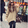 Batwing Sleeve Women Hooded Knitted Sweaters Ladies Autumn Winter Oversized Hooded Knit Top and Pullovers