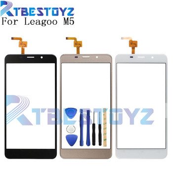 RTBESTOYZ 5.0'' Touch Panel For Leagoo M5 Touch Screen Digitizer Panel Repair Parts Touchscreen Front Glass Lens Sensor image