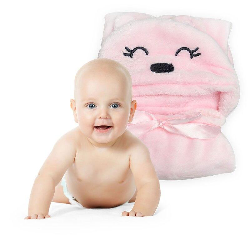 Baby Boys Blanket Towels Girls Newbrons Baby Robes Winter Spring Cartoon Bear Sleepwear Baby Robe Hooded Bathrobe Pajamas