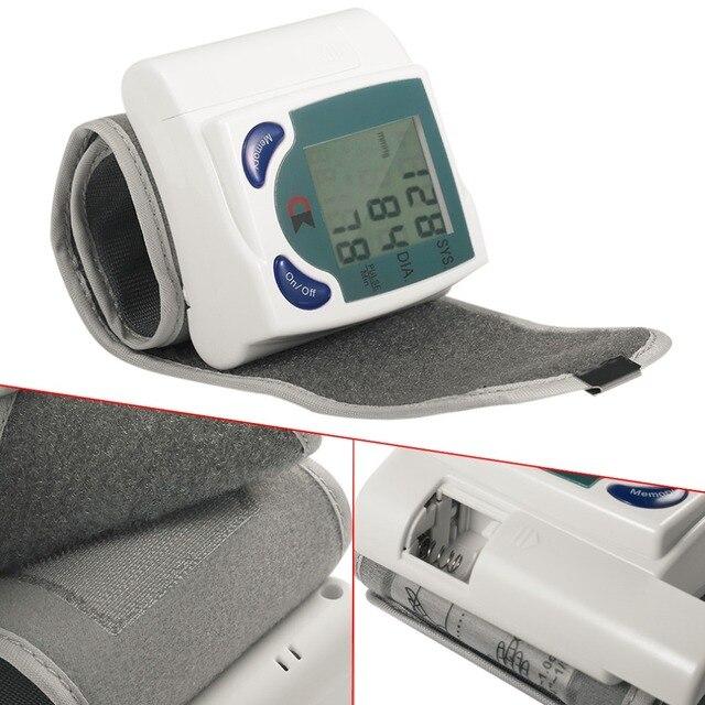 Home Automatic Wrist Digital Lcd Blood Pressure Monitor Portable Tonometer Meter For Blood Pressure Meter Oximetro De Dedo 3