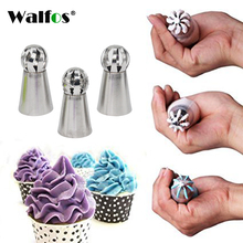 3pc/set Russian Piping Nozzle Sphere Ball Icing Confectionary Pastry Tips Cupcake Decorator Kitchen Bakeware