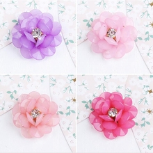 1pc  2017  Acrylic hand – woven flower head rope jewelry DIY production of bow hair clip material package accessories for women