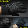 100%  high quality hot sale Harley motorcyclists leather gloves long section of men's leather motorcycle gloves flame gloves