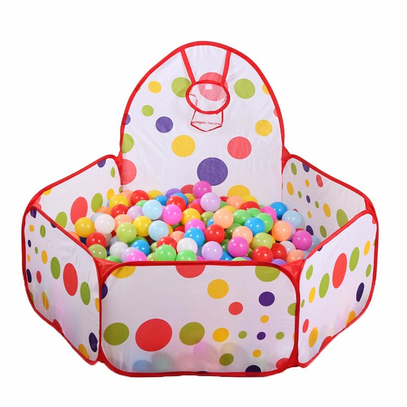 Baby Playpens Safety Tents for Children with Basketry Kids Play Tent Mesh Indoor Stress Ocean Ball Pool Play Yard Play Mat