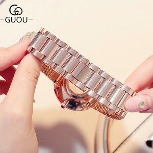 Image 5 - Moda kadın saatler en ünlü marka lüks yıldız gökyüzü Casual bayanlar Quartz saat kadın bilek saatler saat relogio feminino