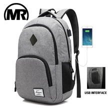 MARKROYAL Fashion Mans Laptop Backpack USB Charging School Mochila Waterproof Oxford Bagpack Students Unisex Computer Knapsack