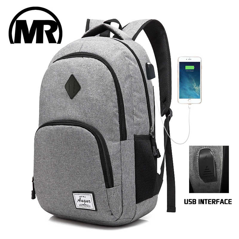 MARKROYAL Fashion Mans Laptop Backpack USB Charging School Mochila Waterproof Oxford Bagpack Students Unisex Computer Knapsack