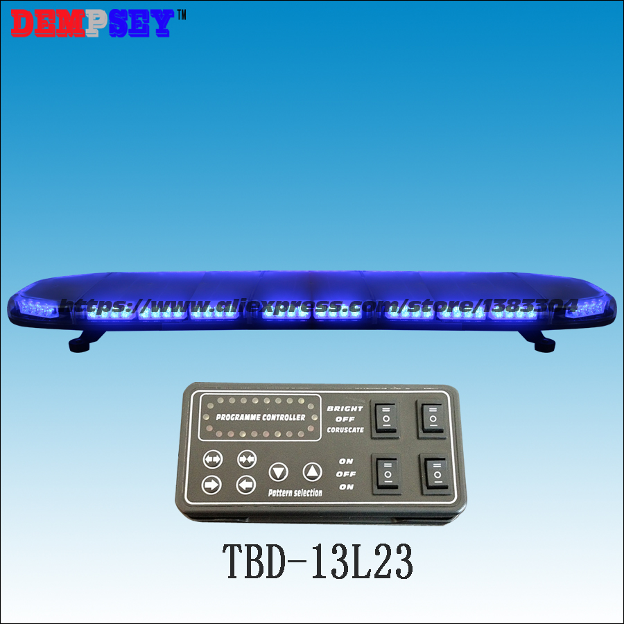 TBD-13L23 High quality LED Super bright Blue lightbar,ambulance/police emergency 49Flash Strobe warning lightbar