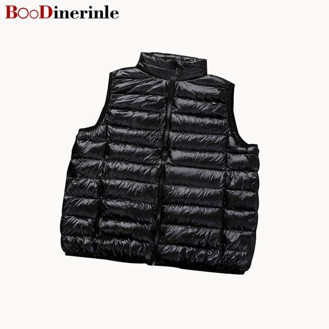 759cb29c958 BOoDinerinle Ultra Light Down Jacket Women2017 Winter Women 90% White Duck  Down Vest Women s Autumn Winter Coat Plus size YR005