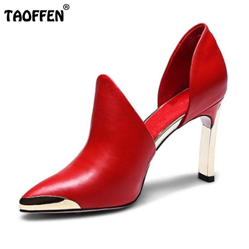women real genuine leather stiletto pointed toe high heel shoes brand sexy fashion pumps ladies heeled shoes size 34-39 R6089 new 2017 spring summer women shoes pointed toe high quality brand fashion womens flats ladies plus size 41 sweet flock t179
