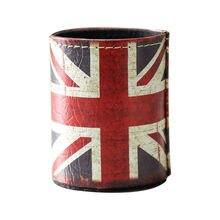 LINKWELL античный старинный винтажный Юнион Джек Британский национальный флаг pu Кожаная подставка для ручек и карандашей стол органайзер Коробка Для Хранения Чехол