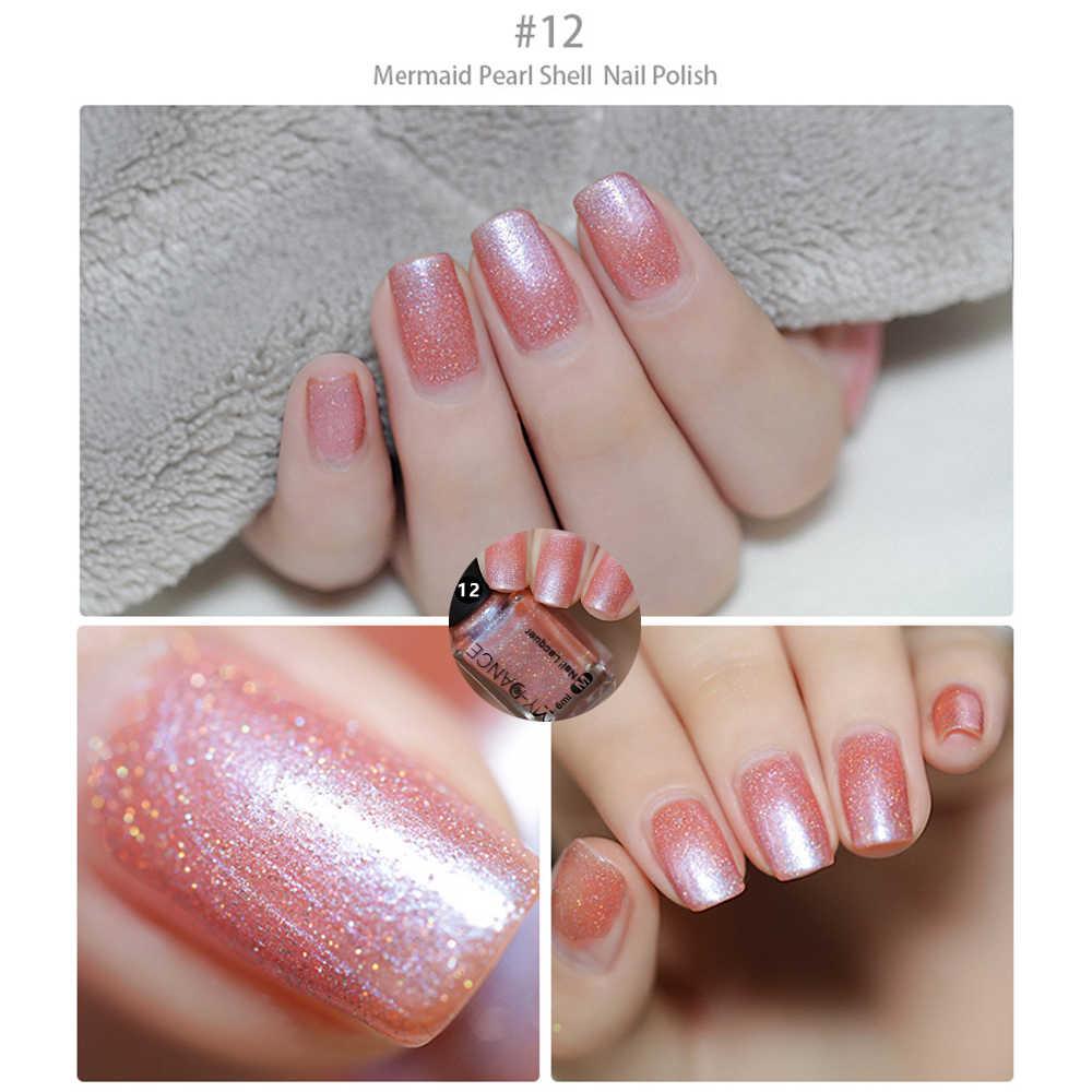 MYDANCE Shell Nail Polish Purple Pearl Red Black Gray Soak Off UV Gel Polish Glue Lacquer Manicure Nail Art Varnish Tool TSLM2
