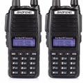 HOT Barato 2016 2 pcs 2 Two Way Radio Dual Band VHF UHF Estação de rádio Walkie Talkie Baofeng UV 82 Com FM Dupla PTT Baofeng UV-82