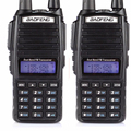 HOT Cheap 2016 2pcs Two 2 Way Radio Dual Band UHF VHF Radio Station Walkie Talkie Baofeng UV 82 With FM Double PTT Baofeng UV-82