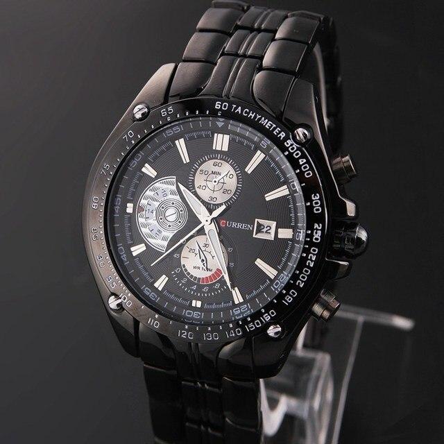 CURREN Men Business Casual Watch Stainless Steel Wristwatches watch men Auto Date analog steel reloj 8083