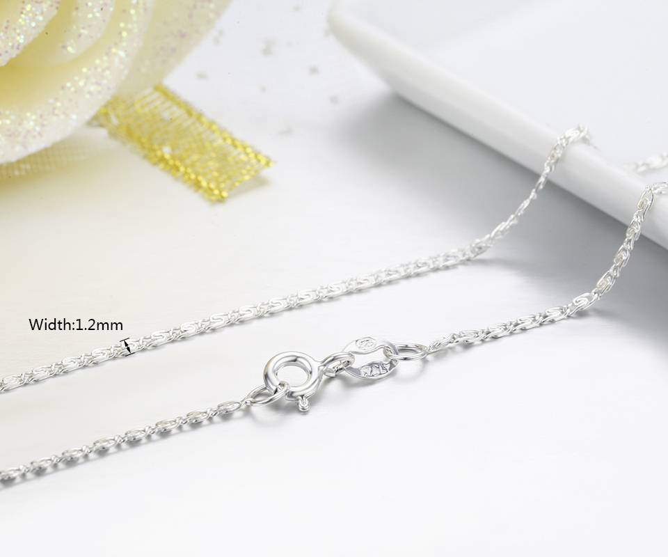 925 Sterling Silver Snake Pie Flat Chain Necklaces Women Girls 45cm 18in Italy Jewelry kolye collares collane collier ketting