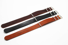KZfashionZULU PU Leather Strap Black/Brown One-piece 18mm/20mm/ 22mm/ 24mm high quality leather strap