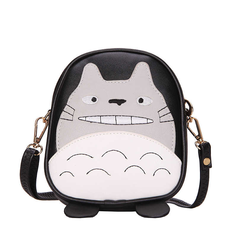 PU leather women wallet cartoon totoro coin purse crossbody change bag small pouch bolso mujer bolsa carteira feminina for girls