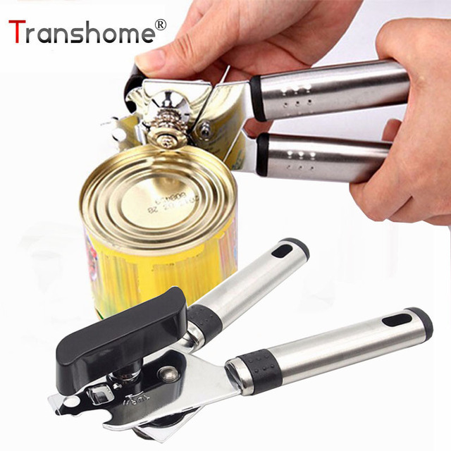 1Pcs Stainless Steel Can Openers High Quality Bottle Opener Handle Tin Can Openers Gadgets Cooking Tool Kitchen Accessories
