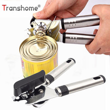 Transhome Can Opener Stainless Steel 1Pcs High Quality Bottle Opener Handle Tin Can Openers Gadgets Kitchen Accessories Openers