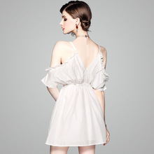 2019 New arrival womens summer sexy strap short dress white for women 80766