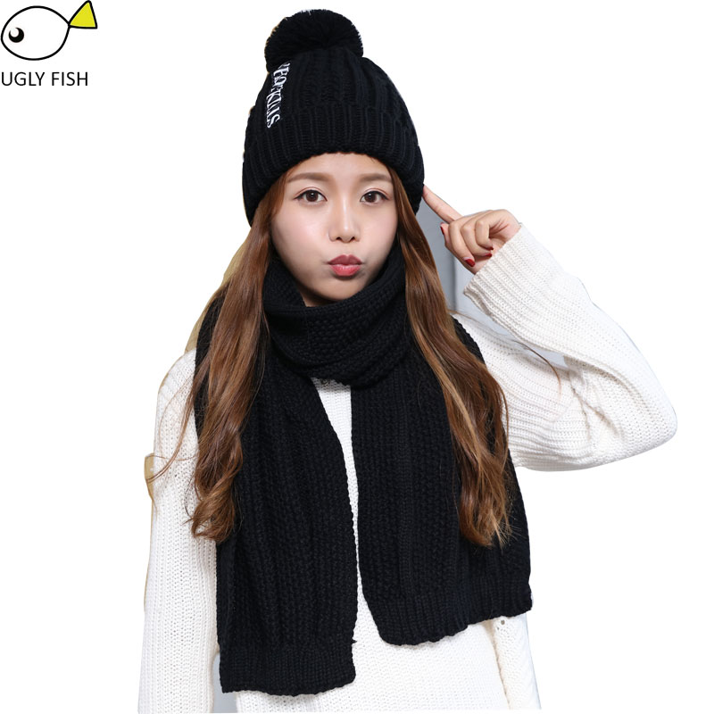 scarf hat glove sets hat and scarf set for woman women hat and scarf set  solid black pink red color 626a7ec3afd