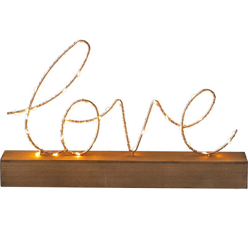 Wedding Gifts Nordic LOVE Letters Neon Ornaments Night Light Home Decorations Creative Bedroom Desktop Neon Lights Ornaments