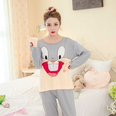 2017 Slik Milk Winter Autumn thin Women Pajamas Sets Sleepwear Long Lady Nightwear Female Pyjamas Home Clothes Plus Size