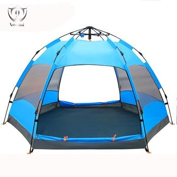 5 -8 People Pop Up Tents Wind Water Proof Big Capacity 2 Layers Outdoor Camping Tent ZH8-241 barraca de camping 8 pessoas