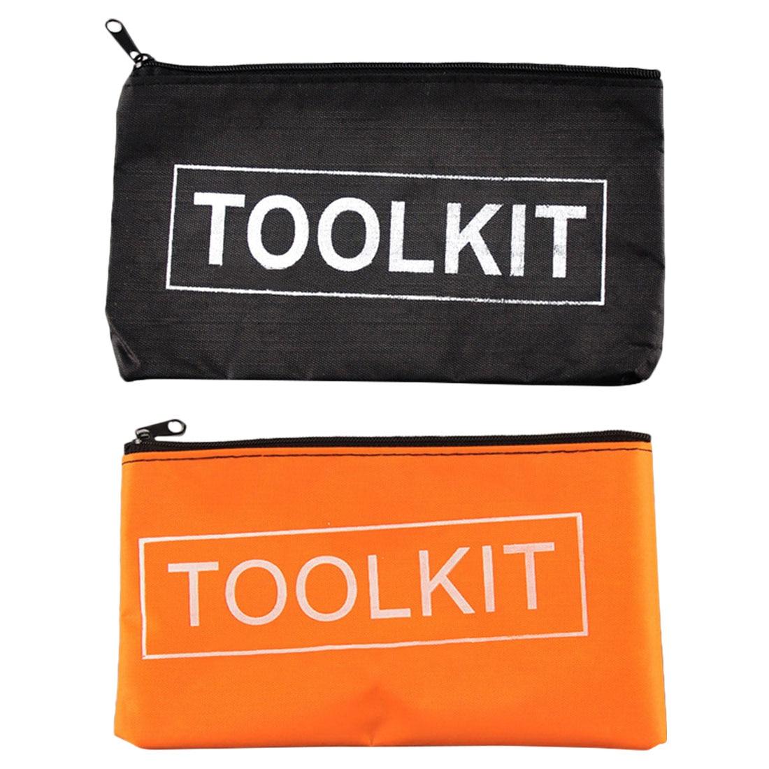 600D Oxford Cloth Tool Bag Storage Instrument Case 19x11cm Universal Size Convenient Hand Tool Bag Pocket Mini Tool Kit Bag