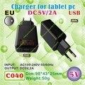 2pcs [C040] USB / 5V,2A / EU power plug (Europe Standard) Charger or Power adaptor for tablet pc;onda,ainol,cube,sanei