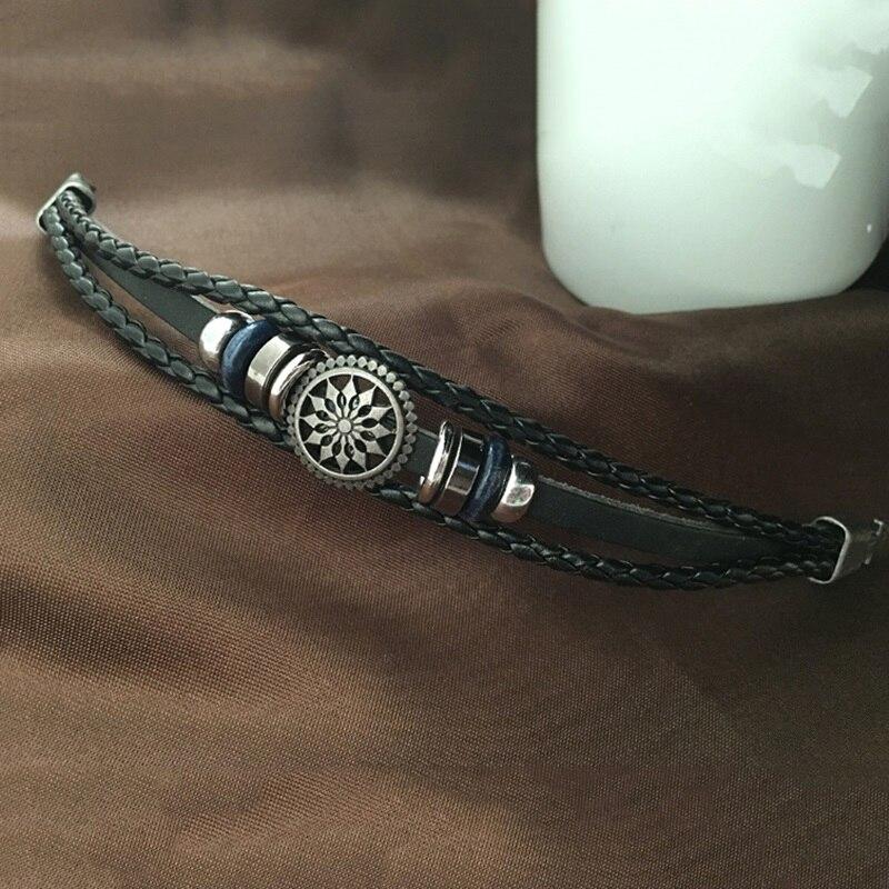 Mode Vintage Geflochtenes Armband Armband Sun Flower Totem Punk ...