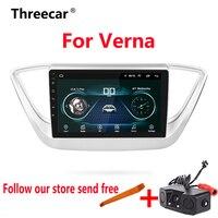 9 дюймов 2din автомобиля радио Android 8,1 мультимедийный плеер для Hyundai Solaris Verna accent 2016 2017 dvd навигации gps