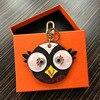 2017 Cute Fluffy Owl Keychain Rex Rabbit Fur Pompoms Key Chain Fur Pom Pom Keychain Bag