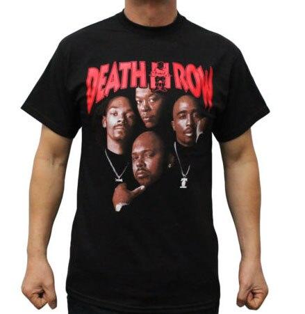 """שורת המוות רשומות כותנה טהורה מזדמן גברים חולצה פוסטר טופאק דרה טי ארה""""ב גודל S-3XL"""