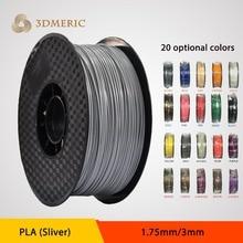 New 2016 impressora filament extruder silver color 3d printer 1.75mm 3mm PLA filament for createbot,makerbot,reprap etc