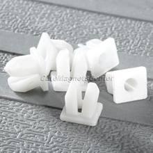 50Pcs 5mm Loch Auto Fastener Weiß Auto Kunststoff Push Niet Fender Clips Fender Bumper Tür Seite Rock Retainer universal