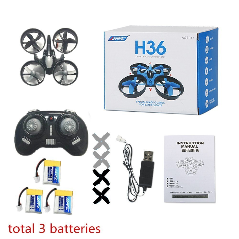 <font><b>JJRC</b></font> H36 Mini <font><b>Drone</b></font> 2.4GHz 6-Axis Gyro RC Helicopter Headless Mode One Key Return Quadcopter VS E010 H20 Dron Toys Gifts image