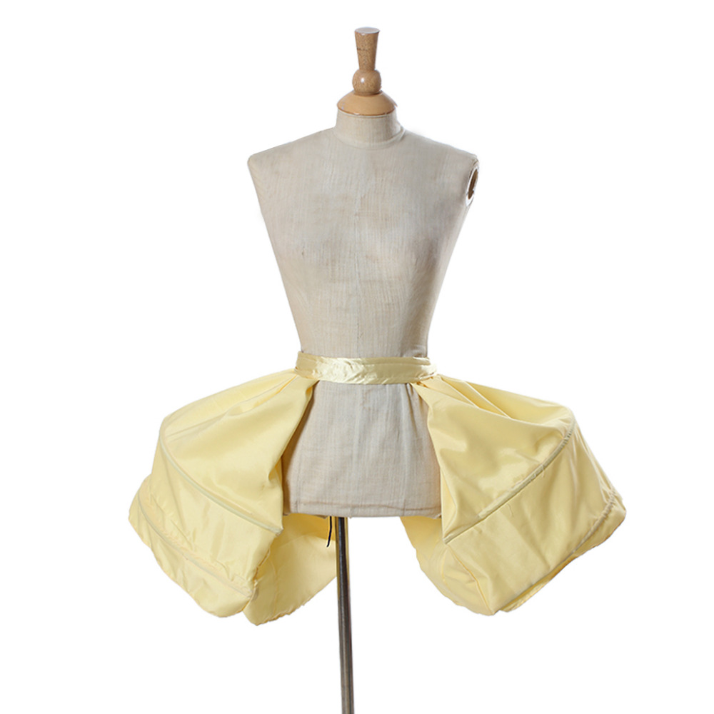 Victorian Rococo Dress Petticoat Crinoline Underskirt Ladies Yellow Cage Frame Pannier Bustle Medieval Cosplay Accessory
