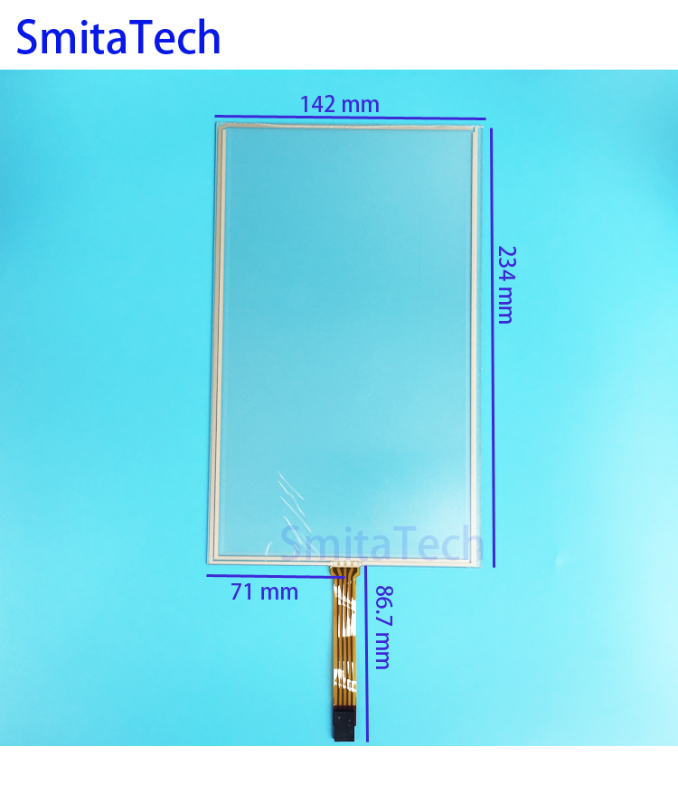 10.1 inch 235mm*142mm touch screen 4 wire Resistive ST-101002 235x142mm Touch screen Digitizer panel 230mm*100mm new 10 1 inch 4 wire resistive touch screen panel for 10inch b101aw03 235 143mm screen touch panel glass free shipping