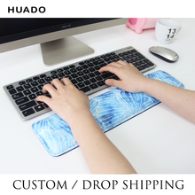 Keyboard Wrist Rest Pad Mouse Support Cushion Soft Foam Ergonomic wrist mat Non-slip rubber base Personal customize