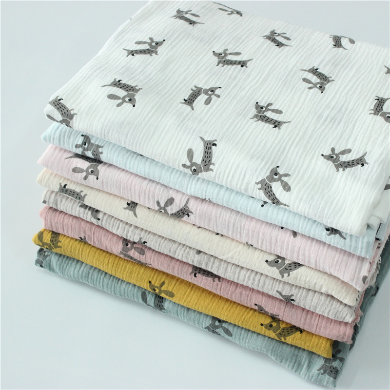 Cotton, Linen, Crepe, Double Layer Gauze, Printed Childrens Clothing, Cloth, Foam, Anti Mosquito Pants, Pajamas, Fabrics