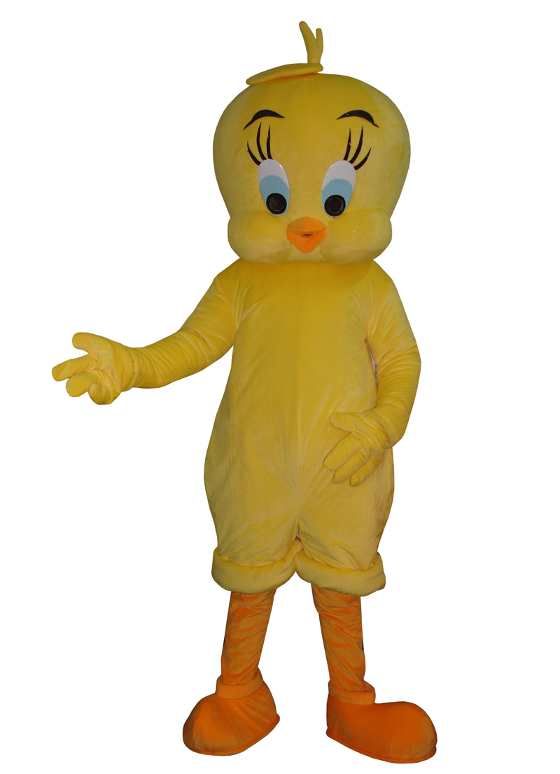Tweety Looney Tunes Mascot Costume Cartoon Bird Fancy Dress Adult Free shipping